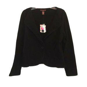 Bandolino Women's L Black Blazer w/ Embroidery NWT